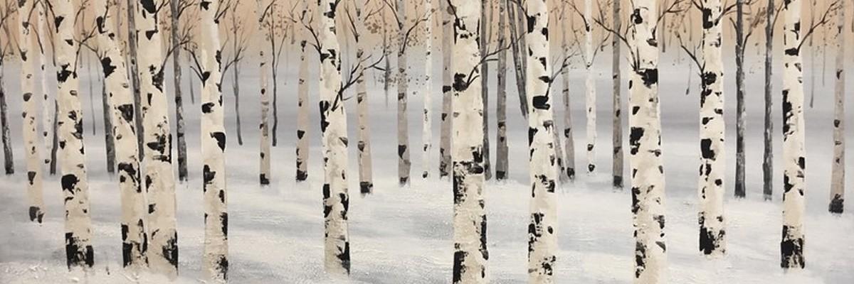 svarte og hvite malerier